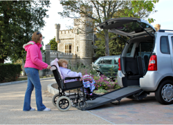 elderly in a wheelchair with a companion